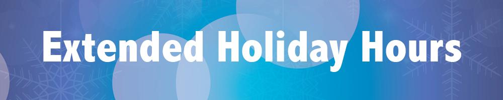 Extended December Hours!
